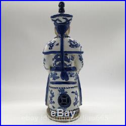 12.2 Chinese Ceramics Blue White Porcelain Qing Dynasty Qianlong Emperor Statue