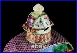 1735-1796 QIANLONG Qing Chinese Fine Mandarin Porcelain Tea Caddy Wise Men