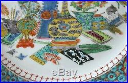 1750's Chinese Porcelain & Enamel plate Qianlong Antique Precious Objects
