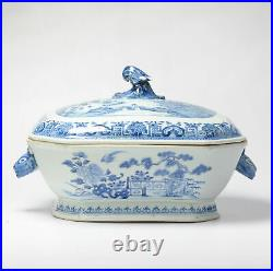 18C Qianlong period Chinese Porcelain Tureen with Lid Flower Landscape