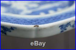 A Chinese Export Ware Blue & White Warming Plate Dish Qianlong #2