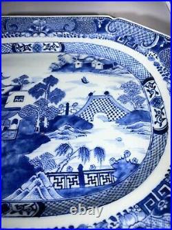 A Fantastic Large 18th century Chinese Porcelain Export Platter Qianlong Period