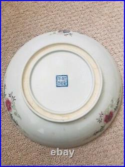 Amazing Antique Chinese Qing Qianlong Porcelain Dragon Plate Estate Find