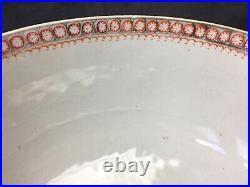 Antique 18th Century Chinese Export Porcelain Punch Bowl qianlong period