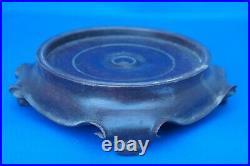 Antique CHINESE porcelain PRUNUS VASE GINGER JAR QIANLONG QING Blue white STAND