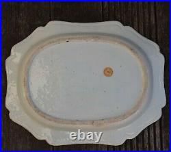 Antique Chinese Export Blue and White Porcelain platter, Qianlong period #698