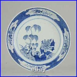 Antique Chinese Plate Qianlong 1750 Flowers Tree Porcelain Qing Dy