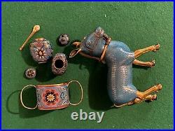 Antique Chinese bronze cloisonne mule. 19th C. Or earlier Qianlong