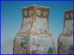 Antique Chinese large Famille Rose Vases, Qianlong period, 18th Century