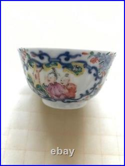 Antique chinese porcelain cup Qing Dynasty Qianlong Period
