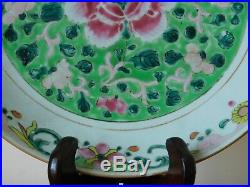 C. 18th Antique Chinese Qianlong Famille Rose Porcelain Pre Bencharong Dish