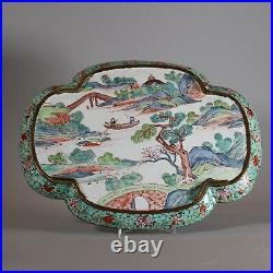 Canton enamel quatrelobed tray, late Qianlong (1736-95)