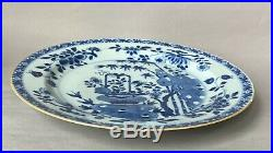 Chinese 18th C Export Blue and White Porcelain Plate Charger Qianlong Period