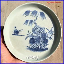 Chinese 18thC Qianlong Blue & White Tea Tray Vietnamese Trinh Lord Bleu de Hue