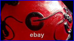 Chinese Antique Qianlong Marked Pekingglass Carved Overlay Round Lower Body Vase