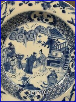 Chinese Antique blue and white the west chamber basin Qianlong period