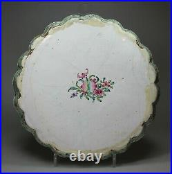 Chinese Canton enamel lobed tray, Qianlong (1736-95)