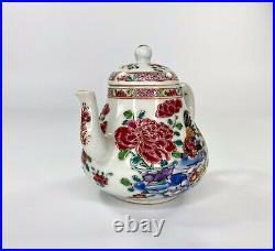 Chinese Cockerel & Cat teapot. Famille rose. C. 1740. Qianlong