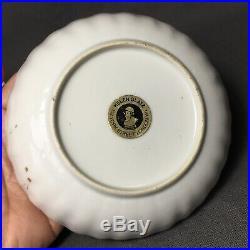 Chinese Export 18th C Grisaille Gilt Porcelain Tea bowl cup & Saucer Qianlong