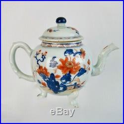 Chinese Export teapot, Imari flowers, Qianlong ca 1750