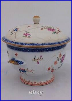 Chinese Porcelain Ecuelle Porringer Broth Bowl Qianlong Qing 1750