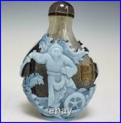 Chinese Qing Qianlong Peking Glass Snuff Bottle / H 7.5cm