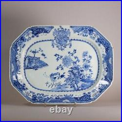 Chinese blue and white armorial platter, Qianlong (1736-95) circa 1770
