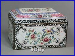 Chinese canton enamel rectangular box and cover, Qianlong (1736-95)
