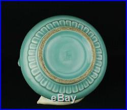 Chinese celadon Xiaolong, calligraphy's brush washer Qing Qianlong seal