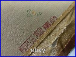 Chinese scroll Antique Imperial Qing dynasty Silk Tapestry Embroidery Qianlong
