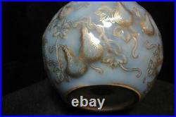 Elegant Chinese Antique Hand Painting Porcelain Gourd Vase Marked QianLong