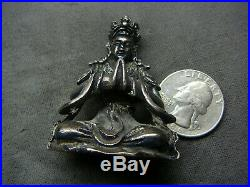 Fine miniature Chinese silver buddha Qianlong mark and of period 18th C