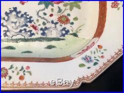 Large Antique 18 C Qianlong Chinese Export Famille Rose Platters 38 CM 15