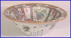 Large Chinese Qianlong Porcelain Rose Medallion Basin Bowl Foot Bath 16