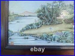 Lovely Antique Chinese Porcelain Plaque with Qianlong Mark