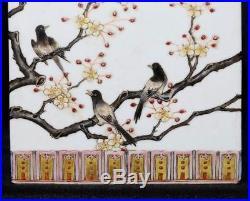 Marvelous Rare Old Chinese Hand Painting Porcelain Brush Pot Mark QianLong FA356