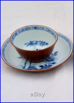 Nanking Cargo Chinese Porcelain Batavian Tea Bowl Saucer Qianlong Qing c 1750