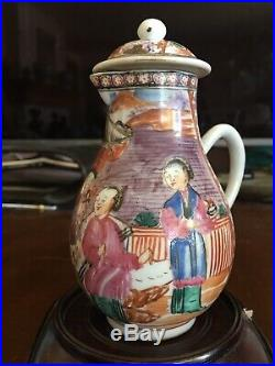 Perfect 18th C. Qing Period QianLong Chinese Antique Famille Rose Pot