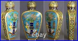 Rare 18th Century Chinese Cloisonné Snuff Bottle Qianlong Mark & Period 1736-96