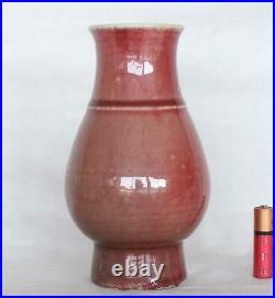 Rare 18th Century Chinese Qianlong Langyao Vase with the Ashes of Roses Glaze