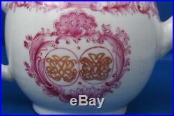 Rare Antique Chinese Export Porcelain Teapot Armorial Monogram Qianlong Qing