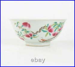Rare Chinese dish with painted peach blossom and red Qianlong mark
