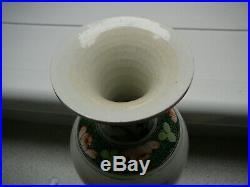Rare unusual Chinese porcelain Kangxi Yongzheng Qianlong Wucai vase 18thC period