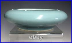 Sky Blue Chinese Qianlong Qing Dynasty Porcelain Brush Washer Monochrome