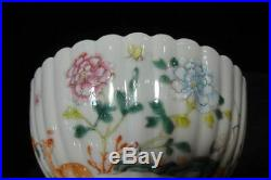 Very Fine Antique Chinese Enamel Hand Painting Porcelain Bowl Marked QianLong